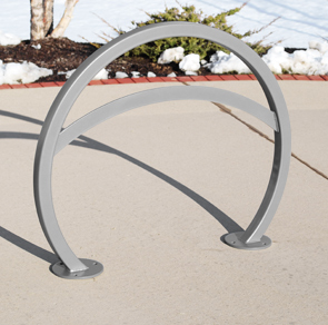 Model ORNS-LB-2-SF-P | Orion Bike Rack with Square Tubing and Lean Bar (Silver)