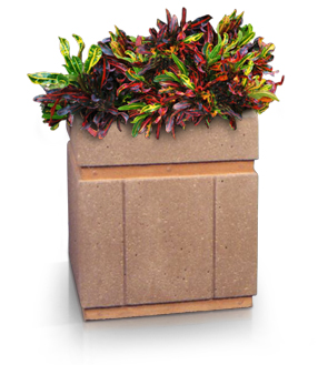 Model P-24X24 | Square Planter (LSB Light Brown)