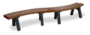 Recycled Plastic Park Benches | Mesa Bench (Brown)