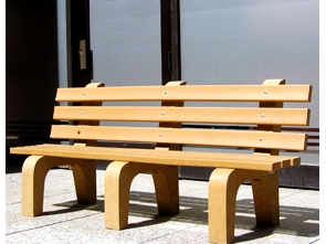 Model P-460X | Recycled Plastic Park Bench | Traditional Bench