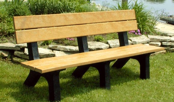 Model P-560 | Recycled Plastic Park Bench | Rock Island Bench