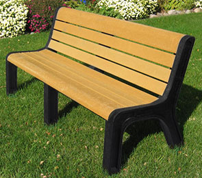 Model P-660 | Recycled Plastic Park Bench | Malibu Bench