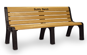 Model P-660 | Recycled Plastic Park Bench | Buddy Bench