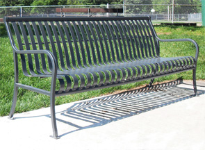 Model P6 | Ribbed Steel Bench Collection (Silver)