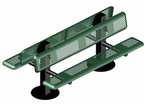 Model P6DWB-IPS | 6' Thermoplastic Coated Bench (Green)