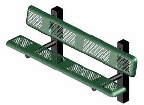 Model P6WB-IP | 6' Thermoplastic Coated Bench (Green)