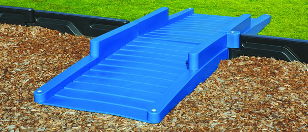 Model PARH-D | Double Blue ADA Playground Wheelchair Access Ramp