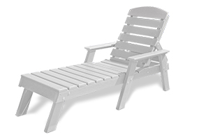 Model PB-ADPENCL | Recycled Plastic Pensacola Style Adirondack Chair (White)