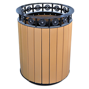 Model PB20JAM | Jamestown Trash Receptacle (Cedar)