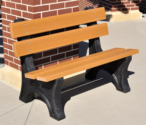 Model PB4-COLE | 4' Colonial Recycled Plastic Bench (Cedar)