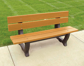 Model PB4-PET | 4' Petrie Recycled Plastic Bench (Cedar)