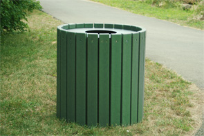 Model PB55R-HD | Heavy-Duty Round Trash Receptacle