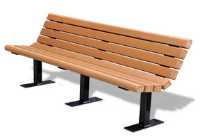 Model PB6-JAM | Recycled Plastic Jameson Bench (Cedar)