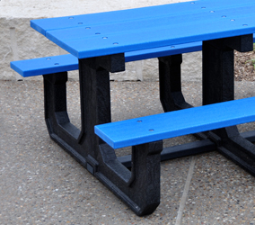 Park Place Rectangular Recycled Plastic Picnic Table