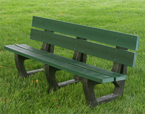 Model PB6-PET | 6' Petrie Recycled Plastic Bench (Green)