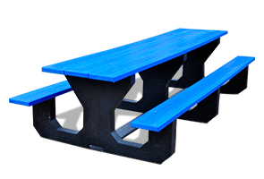 Model PB6-TODPIC | Recycled Plastic 6' Toddler Picnic Table (Blue)