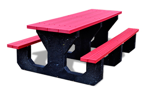 Model PB6-YOUPIC | Recycled Plastic 6' Youth Picnic Table (Red)