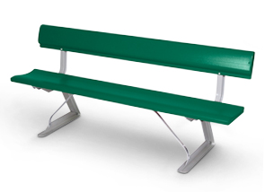 Model PB6WB-P | All Aluminum Bench with Backrest
