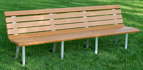 Model PB8-STP | Saint Pete Recycled Plastic Park Bench (Green)