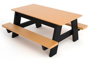 Model Pbkpic4 Recycled Plastic Kids Picnic Table Cedar Black