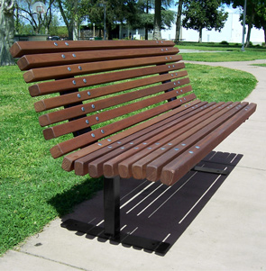 Model PBSC-5-RD | 5' Palisade Wood Bench | Redwood