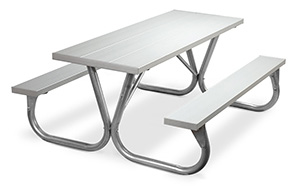 Model PC-6AA | Park Chief  6ft. Aluminum Picnic Tables
