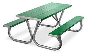 Model PC-6AG | Park Chief  6ft. Aluminum Picnic Tables (Kelly Green)