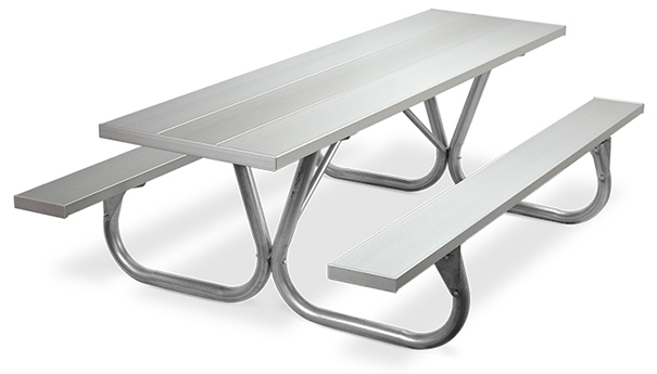 Model PC-8AA | Park Chief 8ft. Aluminum Picnic Tables (Anodized Aluminum)