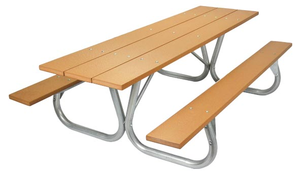 Model PC-8PCE | Park Chief 8ft. Recycled Plastic Picnic Table (Cedar)