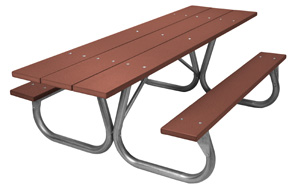 Model PC-HPBN | Universal Access Park Chief Recycled Plastic Picnic Table (Brown)