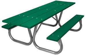 Model PC-HPGN | Universal Access Park Chief  8ft. Recycled Plastic Picnic Tables (Green)