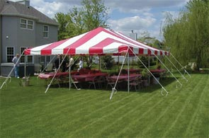 Model PC2030 | Party Canopy Tent (Red/White)