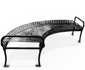 Model PCB-96-90 | Backless Circular Bench | Premier Style (Black)