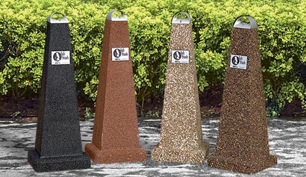 Model PCSPYA | Aggregate Smokers Outdoor Ashtrays (Black Lustre Aggregate, Alpine Red Aggregate, River Rock Aggregate, Coffee Bean Aggregate)