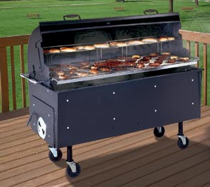 Model PG-2460-W | Commercial Pit Barbeque Caster Mounted
