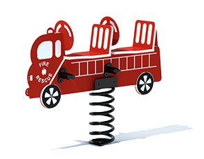 Model PGC-2RFT | Double Seat Fire Truck Spring Rider Playground Component