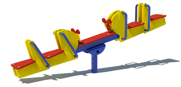 Model PGC-4TF | 4-Seat Flyer Playground Component