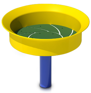 Model PGC-BASE | Kids Sand/Planter Basin Play Component (Blue/Yellow)