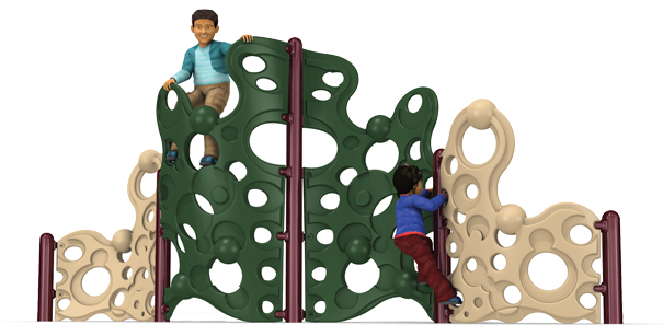Model PGC-CBW-4 | 4-Section Bubble Wall Playground Climber