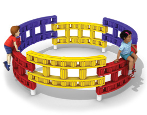 Model PGC-CCLW-C | Circle Chain Link Wall Playground Climber