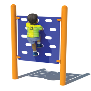 Model PGC-CSP-J50 | Junior Single Panel Climbing Wall for Playgrounds