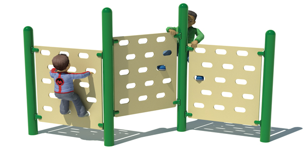Model PGC-CTP-J50 | Junior Triple Panel Climbing Wall for Playgrounds