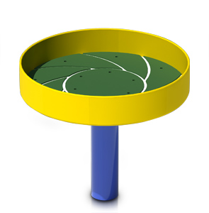 Model PGC-HBASE | Kids ADA Sand/Planter Basin Play Component (Blue/Yellow)