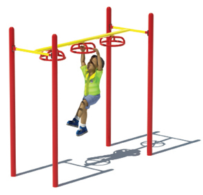 Model PGC-L3WSH | 3-Wheel Swinger Playground Component