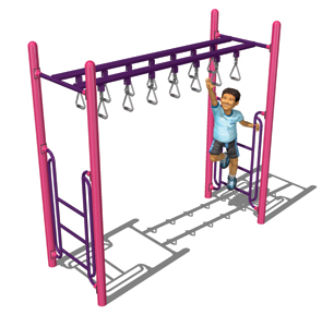 Model PGC-LDTRH | Double Trapeze Ring Horizontal Ladder