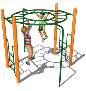 Model PGC-LH-360 | 360 Orbital Horizontal Ladder Playground Component
