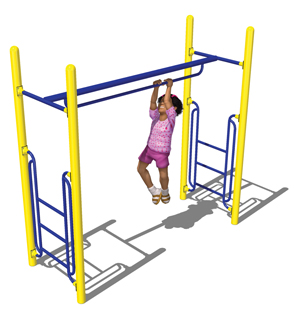 Model PGC-LPBH | Parallel Bar Horizontal Ladder for Playground
