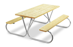 Model PK-6WA | Park King 6ft. MCA Treated Picnic Table with Galvanized Frame