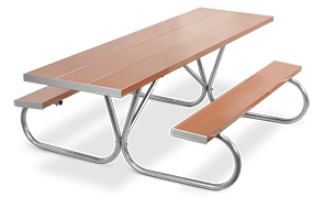 Model PK-HAT | Park King  8ft. Aluminum Picnic Tables (Tan)