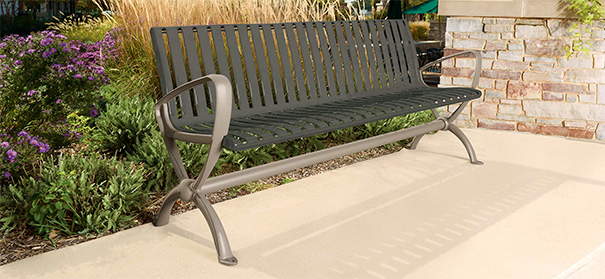 Park Lane Collection Contour Bench | 6' Length